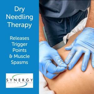 Dry needling to back